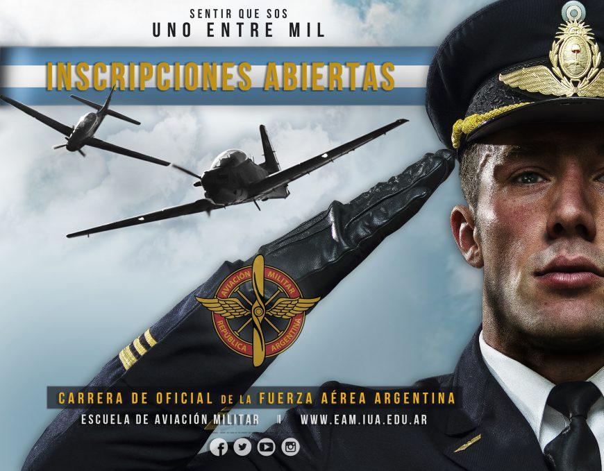 Inscripciones Abiertas para la Formación de Oficial de la Fuerza Aérea Argentina