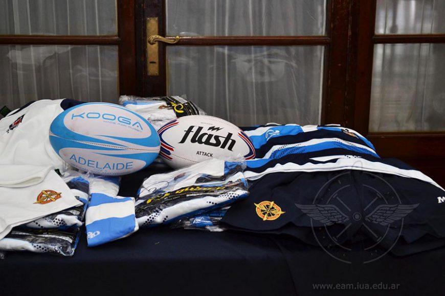 Donación de Camisetas para el Equipo de Rugby de la Escuela de Aviación Militar