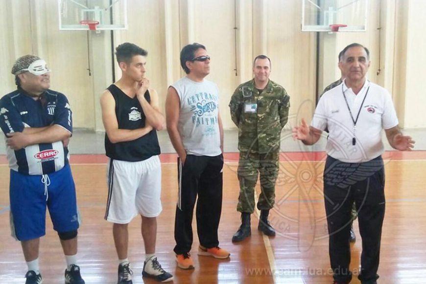 Campus de Básquet para ciegos en la Escuela de Aviación Militar