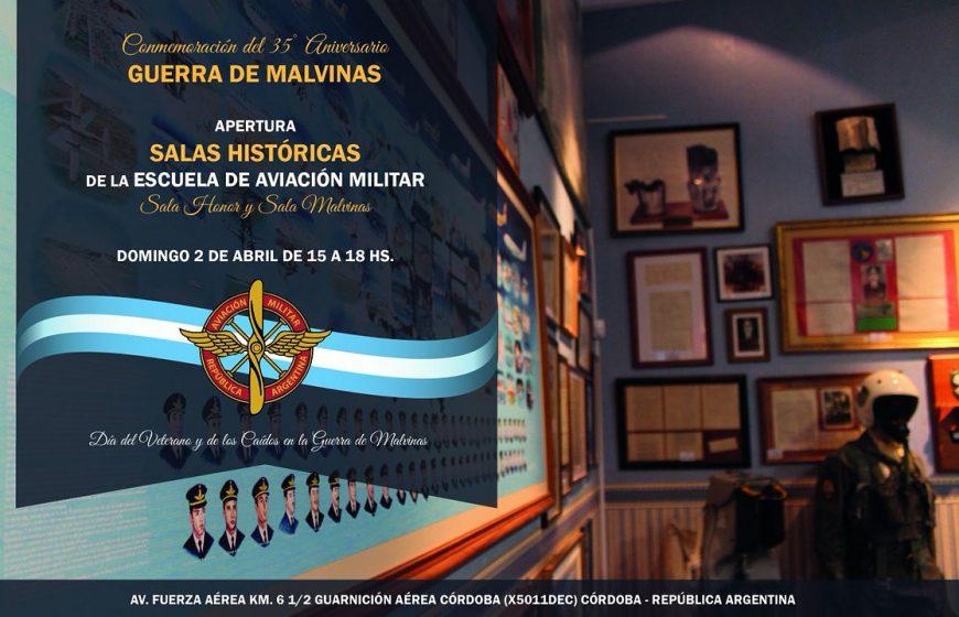 """Apertura de """"Sala de Honor"""" y """"Sala de Malvinas"""" en la Escuela de Aviación Militar"""