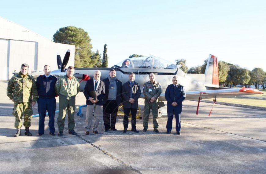 Delegación de la UNDEF visitó la Escuela de Aviación Militar