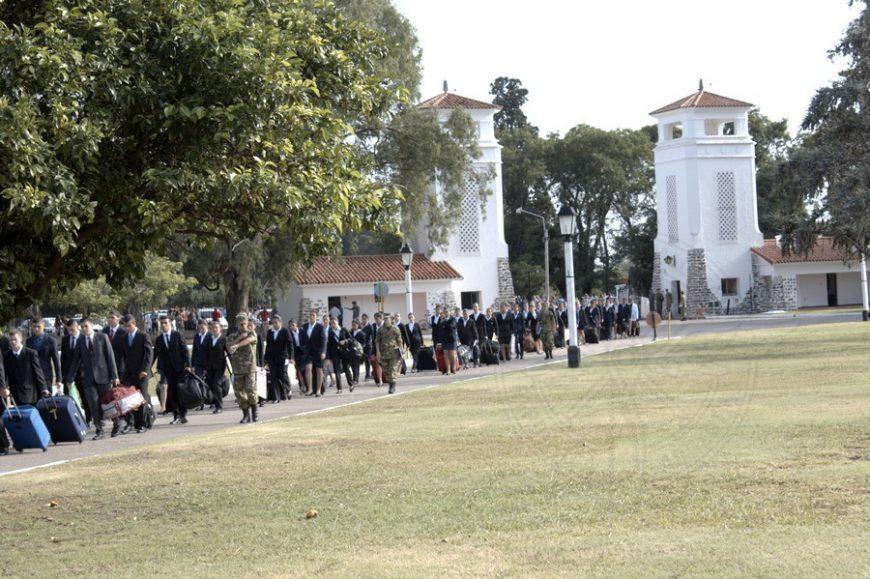 Nuevos Cadetes que ingresaron en la Escuela de Aviación Militar