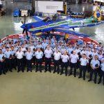 Delegación de la E.A.M. en el Escuadrón Fumaça