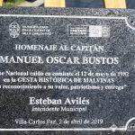 Placa recordatoria del Capitán Manuel BUSTOS