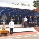Autoridades de la E.A.M. en la ceremonia