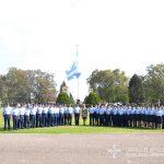 Autoridades junto a la Delegación del 53º Viaje Final de Instrucción.