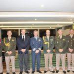 El Director de la E.A.M. junto a personal militar de la Embajada Argentina en Colombia.