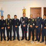 Cadetes de la E.A.M. junto a Agregados Militares en Colombia.