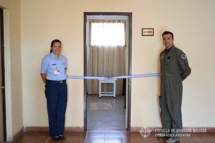 Inauguración del Primer Lactario en la Escuela de Aviación Militar