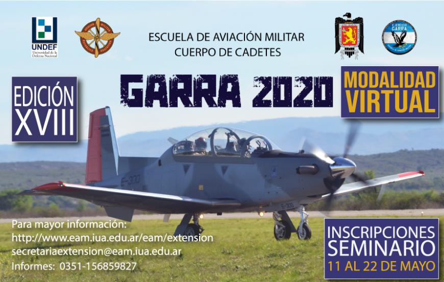 """Inscripción Seminario """"GARRA 2020 VIRTUAL"""""""