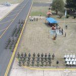 Vista aérea ceremonia en el Grupo Aéreo Escuela.