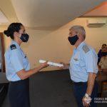 Brig. ISSAC entrega diploma a Oficial egresada del CBCAM.