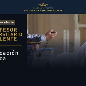 Convocatoria de Profesor Universitario Suplente Para EAM  || Educación Física